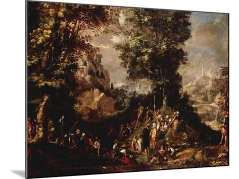 St John the Baptist Preaching to the Multitude-Abraham Bloemaert-Mounted Giclee Print