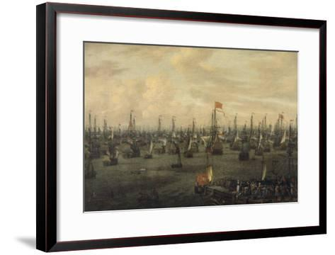 The Departure of William of Orange from Briel, 1688-Abraham Storck-Framed Art Print