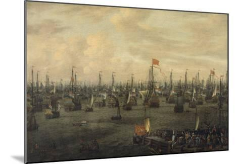 The Departure of William of Orange from Briel, 1688-Abraham Storck-Mounted Giclee Print