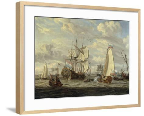Peter the Great visiting the 'Peter and Paul'-Abraham Storck-Framed Art Print