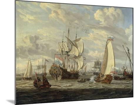 Peter the Great visiting the 'Peter and Paul'-Abraham Storck-Mounted Giclee Print