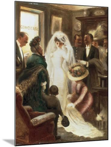 Le Jour du Mariage-Albert Guillaume-Mounted Giclee Print
