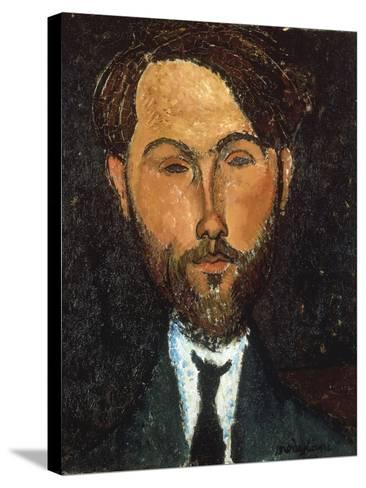 Portrait of Leopold Zborowski, 1917-Amedeo Modigliani-Stretched Canvas Print