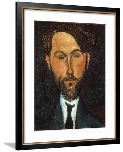 Portrait of Leopold Zborowski, 1917-Amedeo Modigliani-Framed Art Print