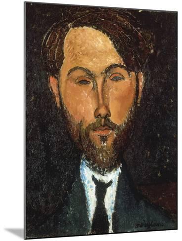 Portrait of Leopold Zborowski, 1917-Amedeo Modigliani-Mounted Giclee Print