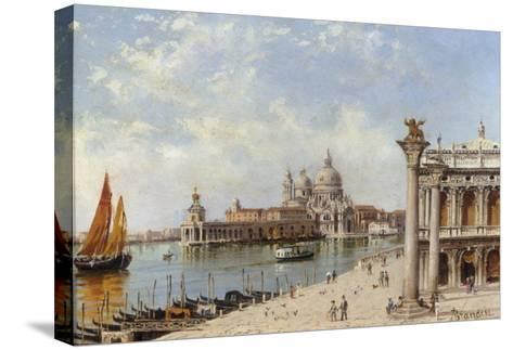 A View of the Piazzetta and Santa Maria della Salute, Venice-Antonietta Brandeis-Stretched Canvas Print
