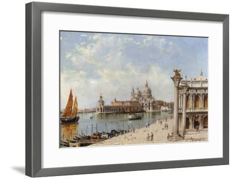 A View of the Piazzetta and Santa Maria della Salute, Venice-Antonietta Brandeis-Framed Art Print