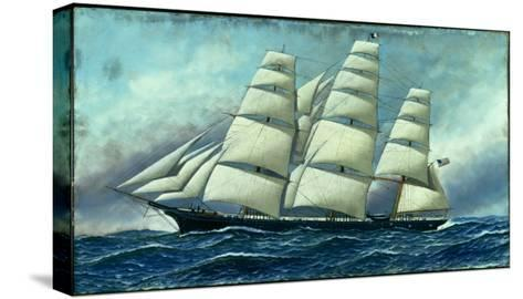 Glory of the Seas' in Full Sail, 1919-Antonio Jacobsen-Stretched Canvas Print