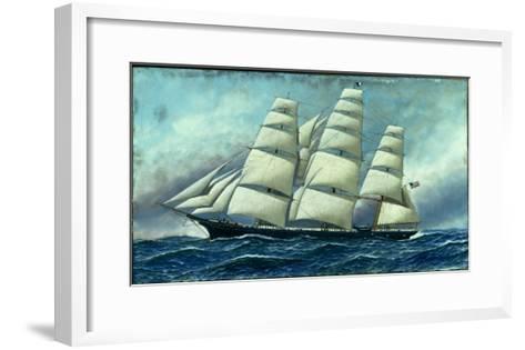 Glory of the Seas' in Full Sail, 1919-Antonio Jacobsen-Framed Art Print