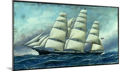 Glory of the Seas' in Full Sail, 1919-Antonio Jacobsen-Mounted Giclee Print