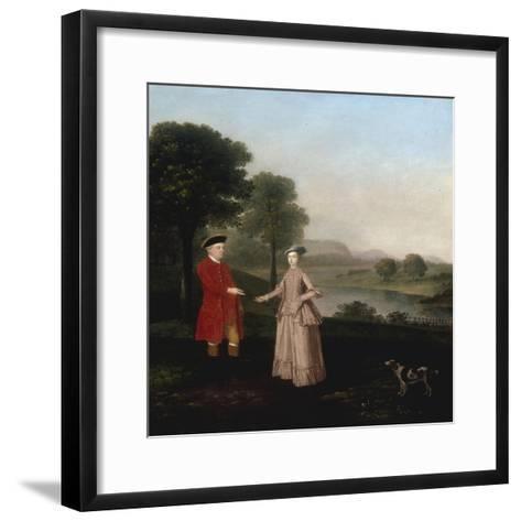 Portrait of Mr and Mrs John Broadhurst of Foston Hall, Derbyshire-Arthur Devis-Framed Art Print
