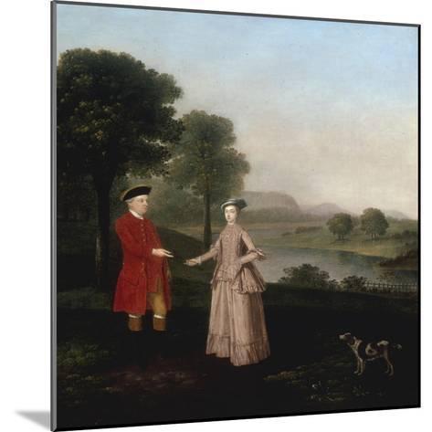 Portrait of Mr and Mrs John Broadhurst of Foston Hall, Derbyshire-Arthur Devis-Mounted Giclee Print
