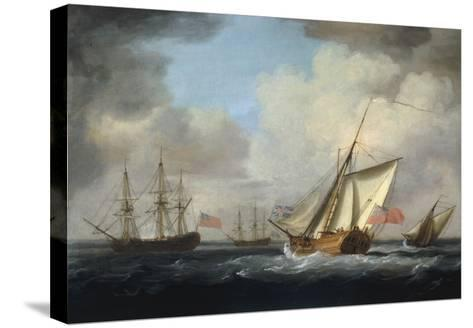 The Yacht 'Dorset'-Charles Brooking-Stretched Canvas Print