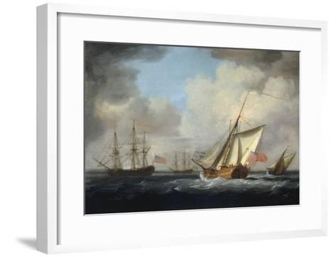 The Yacht 'Dorset'-Charles Brooking-Framed Art Print