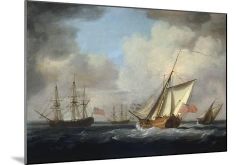 The Yacht 'Dorset'-Charles Brooking-Mounted Giclee Print