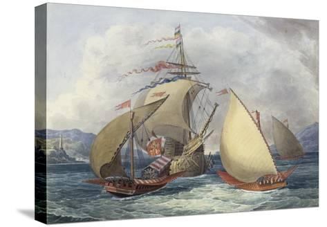 Papal Galleys and Ships of War, c.1850-Charles Hamilton Smith-Stretched Canvas Print