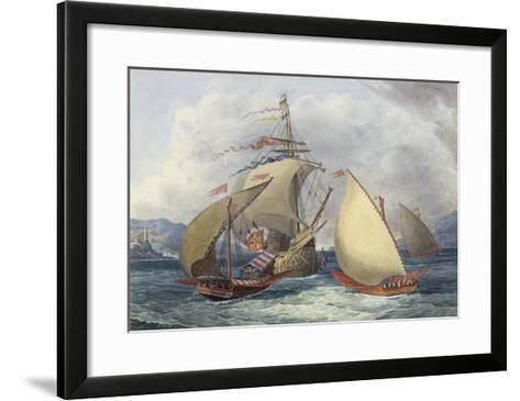 Papal Galleys and Ships of War, c.1850-Charles Hamilton Smith-Framed Art Print