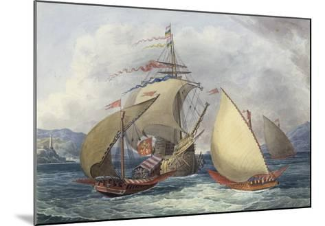 Papal Galleys and Ships of War, c.1850-Charles Hamilton Smith-Mounted Giclee Print