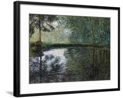 Coin D'Etang A Montgeron, 1876-Claude Monet-Framed Art Print