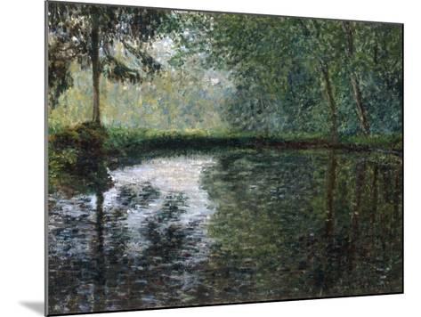 Coin D'Etang A Montgeron, 1876-Claude Monet-Mounted Giclee Print
