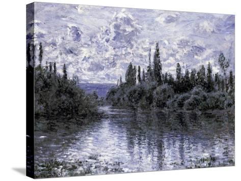 Bras de la Seine Pres de Vetheuil-Claude Monet-Stretched Canvas Print