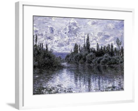 Bras de la Seine Pres de Vetheuil-Claude Monet-Framed Art Print