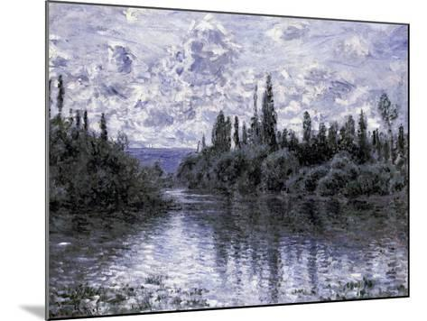 Bras de la Seine Pres de Vetheuil-Claude Monet-Mounted Giclee Print