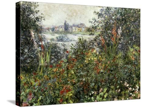 Fleurs a Vetheuil, 1880-Claude Monet-Stretched Canvas Print