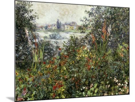Fleurs a Vetheuil, 1880-Claude Monet-Mounted Giclee Print