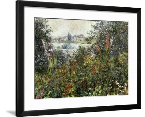 Fleurs a Vetheuil, 1880-Claude Monet-Framed Art Print