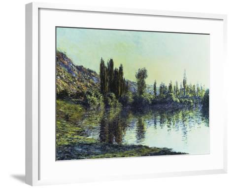 La Seine a Vetheuil, 1881-Claude Monet-Framed Art Print