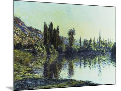 La Seine a Vetheuil, 1881-Claude Monet-Mounted Giclee Print