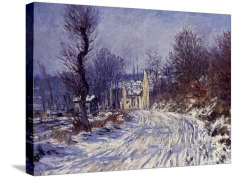 Route de Giverny en Hiver, 1885-Claude Monet-Stretched Canvas Print