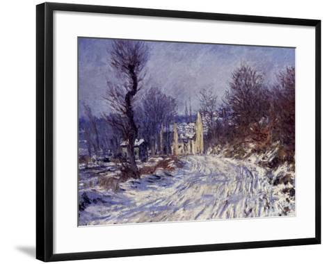 Route de Giverny en Hiver, 1885-Claude Monet-Framed Art Print