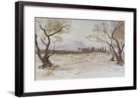 Near Kanea, Crete, 1864-Edward Lear-Framed Art Print