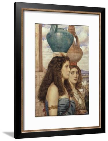 Water Carriers of the Nile, 1862-Edward John Poynter-Framed Art Print