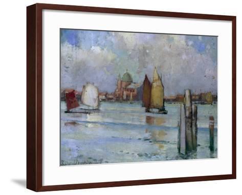 In the Venetian Lagoon, 1902-Edward Reginald Frampton-Framed Art Print