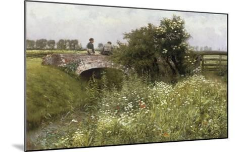 A Meeting on the Bridge-Emile Claus-Mounted Giclee Print