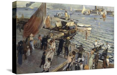 The Grand Canal, Venice, 1894-Ettore Tito-Stretched Canvas Print