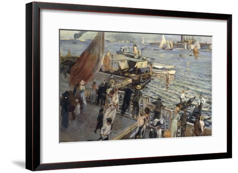 The Grand Canal, Venice, 1894-Ettore Tito-Framed Art Print