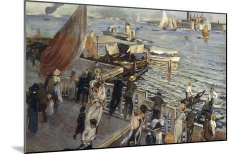 The Grand Canal, Venice, 1894-Ettore Tito-Mounted Giclee Print