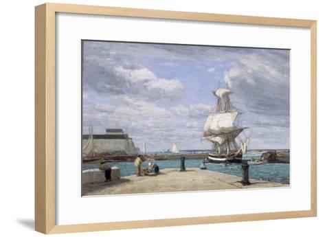 Honfleur, Le Port, c.1858-62-Eug?ne Boudin-Framed Art Print