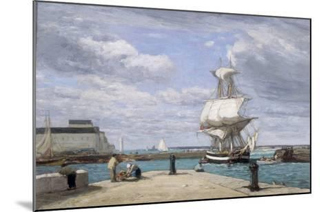 Honfleur, Le Port, c.1858-62-Eug?ne Boudin-Mounted Giclee Print