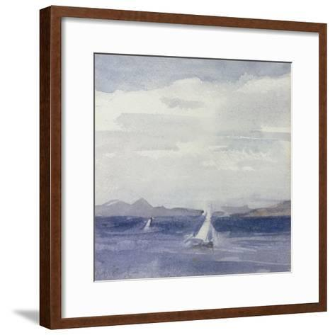 Yachts at Sea-Francis Campbell Boileau Cadell-Framed Art Print