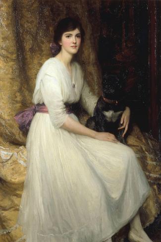 Dorothy, Daughter of Herbert Dicksee, 1917-Frank Bernard Dicksee-Stretched Canvas Print