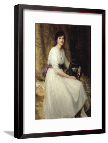 Dorothy, Daughter of Herbert Dicksee, 1917-Frank Bernard Dicksee-Framed Art Print