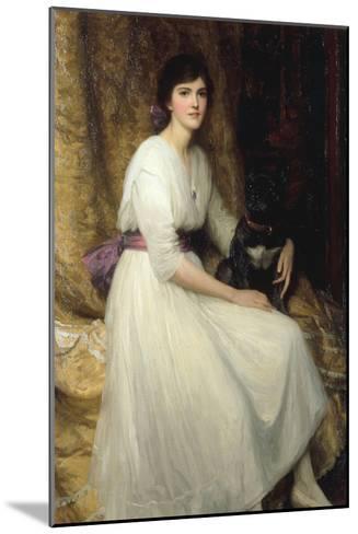 Dorothy, Daughter of Herbert Dicksee, 1917-Frank Bernard Dicksee-Mounted Giclee Print