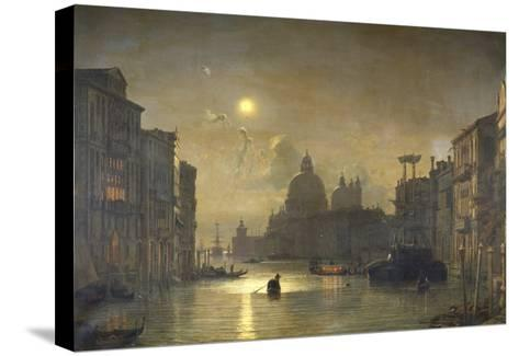 San Salute, Venise-Friedrich Nerly-Stretched Canvas Print