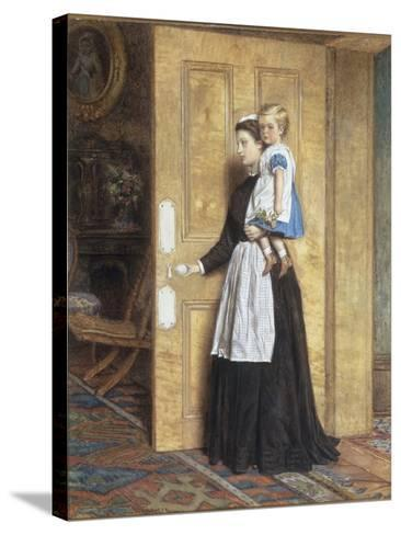 A Nurse with her Charge, 1870-George Goodwin Kilburne-Stretched Canvas Print