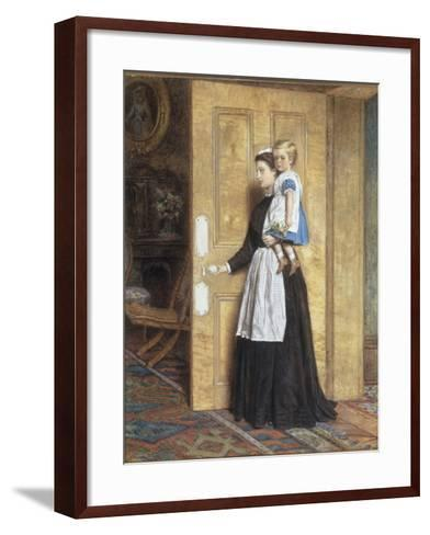 A Nurse with her Charge, 1870-George Goodwin Kilburne-Framed Art Print